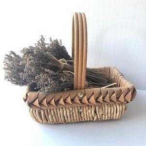 Basket Decor Weave Wrap & Dried Lavender